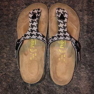Brand new!! Size 38 black & white Papillio sandals